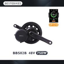 Bafang BBS02B 48V750W bbs02 электрический велосипед с электродвигателем комплект Электрический велосипед conversion kit вело electrique Мотор колеса