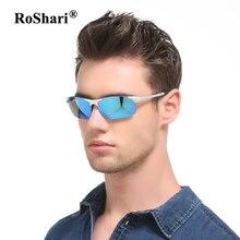 Roshari винтажные брендовые поляризационные Солнцезащитные очки для женщин Для мужчин зеркало вождения Защита от солнца Очки для мужчин Путешествие Мужской очки Óculos gafas-де-сол Хомбре