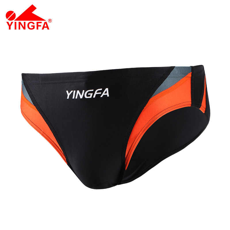 YINGFA FINA Mens Swimwear Sport trunks swimming Training costumes professional Swimsuit Racing Competition Bathing Suit  bottom