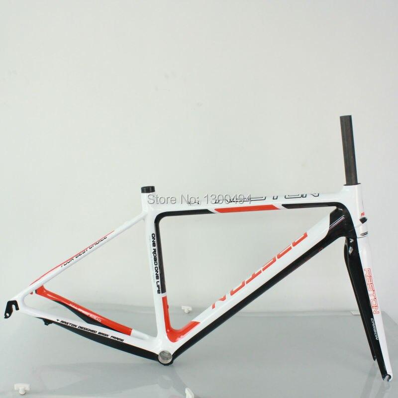 Bike Carbon Road Frame Model:KQ-RB106R 700C Logos Finish Fork Included Factory Oulets