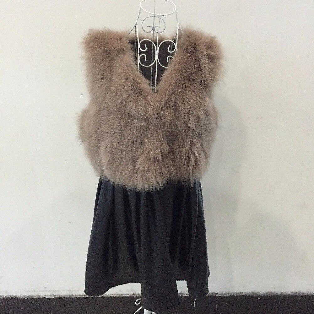 2017 Manteaux Pour De Renard Moutons réel Veste Nouveau 2 Cuir 1 Robe Longues Avec Véritable Naturel Gilet En Femmes Des Réel Fourrure xYqO74p