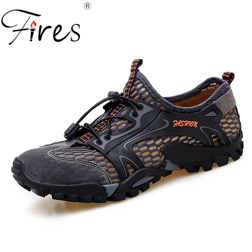 US $12.84 50% OFF|Męskie odkryte trampki oddychające męskie buty górskie męskie sportowe odkryte buty do wspinaczki sandały letnie trekkingowe buty do