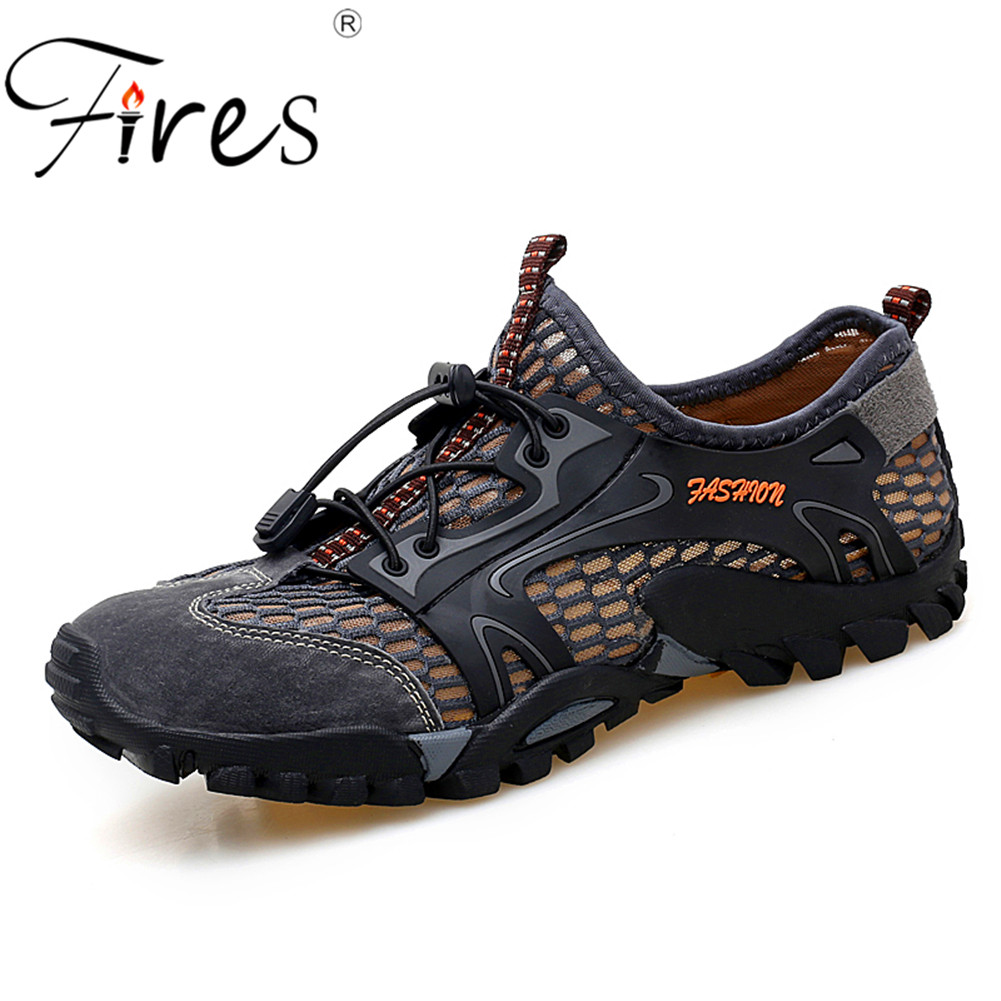 Men Outdoor Sneakers Breathable Men's Hiking Shoes Man Sports Outdoor Climbing Shoes Sandals Summer Trekking Water Shoes humtto men s summer sports outdoor trekking hiking sandals shoes for men sport climbing mountain shoes man sandals