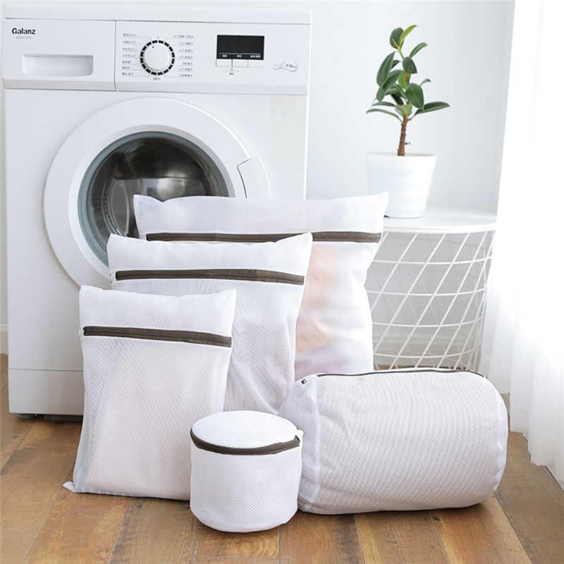 Saco de Roupa de malha Para Máquina De Lavar Roupa Fechado Lavanderia de Lavagem de Armazenamento De Roupas De Viagem Net Malha Net Underwear Bra Limpeza Doméstica