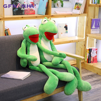 1pc 100/120cm Large Size Kermit Frog Plush Toy Kawaii Long Leg Animal Frog Pillow Stuffed Toys Children Baby Christmas Gifts