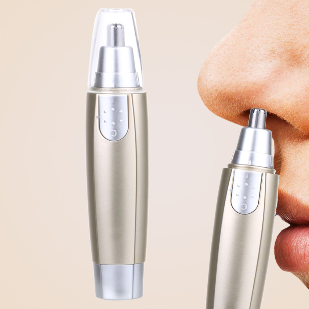 Washable Electric Nose Hair Trimmer Removal Clipper Shaver for Man Eyebrow Shaver Makeup Tools Safe Face Care Nose Shaving Gold
