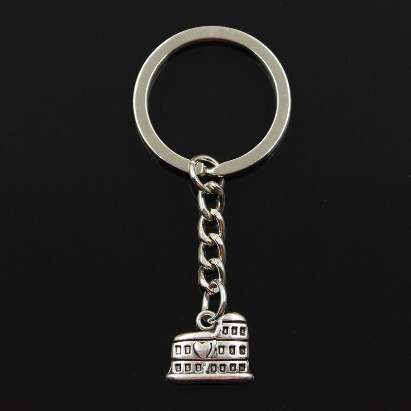 New Fashion Keychain 16x13mm Roman Colosseum Rome Italy Pendants DIY Men Jewelry Car Key Chain Ring Holder Souvenir For Gift
