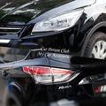 ABS Хром Передняя фара задняя крышка лампы Отделка молдинг гарнир для Ford Escape Kuga 2013 2014 2015 2016 автомобильные аксессуары