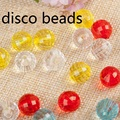 16mm Mixed Color Round World Disco Ball Beads Acrylic Large Bead Jewelry Insumos Joyeria Material Para Bijuteria 12pcs/lot EV-63
