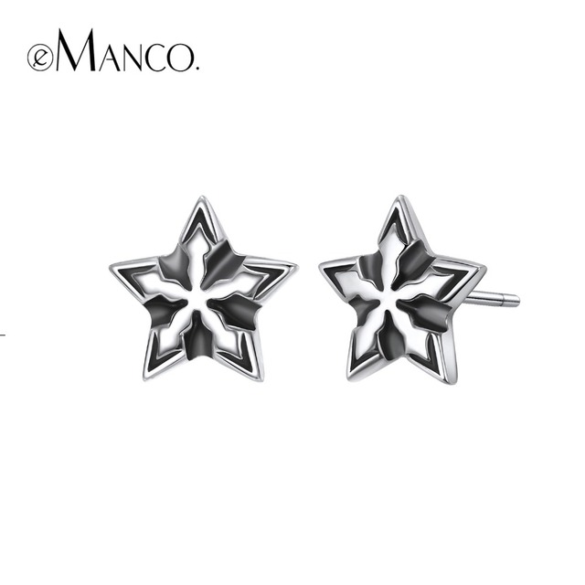 e-Manco 925 Sterling Brighten Star Earrings Wholesale Particularity Fashion Earr