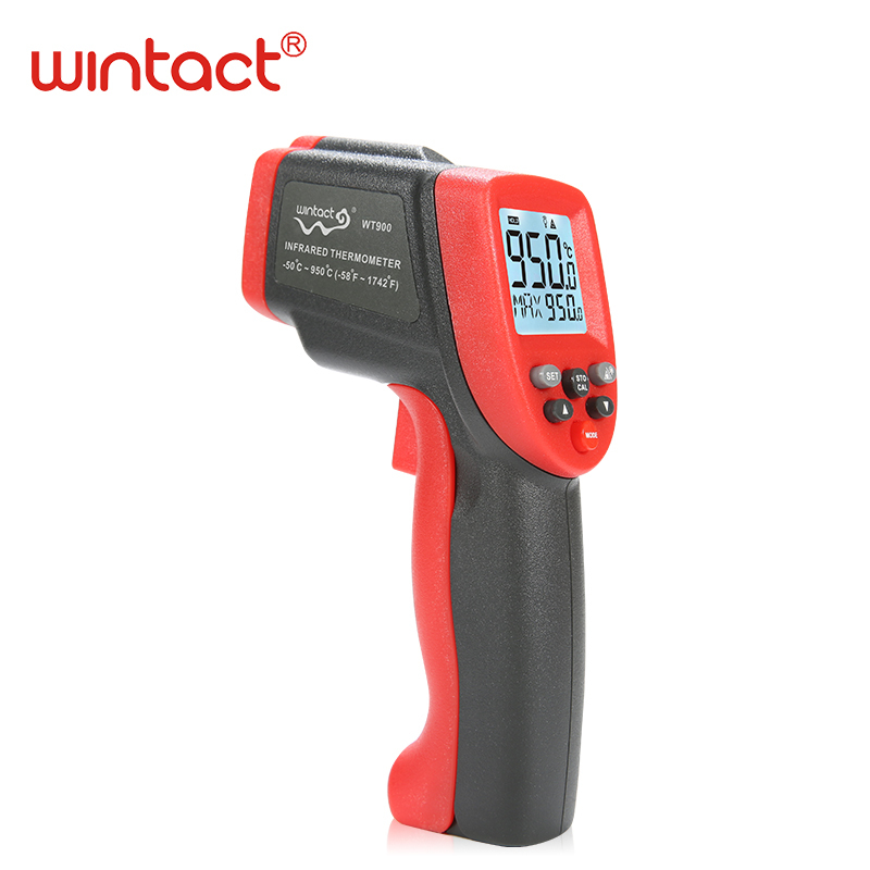 digital infrared thermometer laser thermometer temperature meter thermometer non-contact free shipping WINTACT WT900 цена