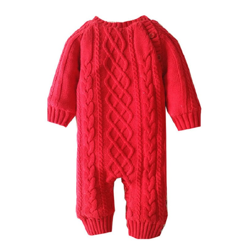 4 Color New O-Neck Warm Jumpsuit Red Overalls Tee Solid Thick Cotton Winter&Autumn Baby Rompers Newborn Boys Girls Clothes cotton baby rompers set newborn clothes baby clothing boys girls cartoon jumpsuits long sleeve overalls coveralls autumn winter