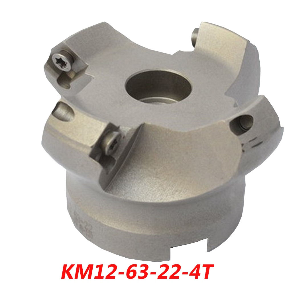 Free Shipping KM12-63-22-4T 45 Angle Face Milling Cutter Tools For Carbide Insert SEHT1204