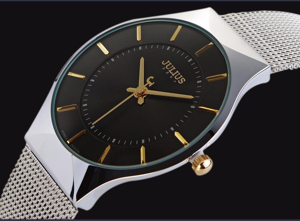 Julius Men Watch Stainless Steel Band Analog Display Quartz Wristwatch (14)