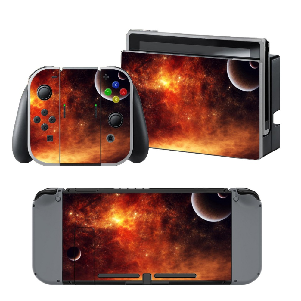 Newly Arrival Vinyl Skin Sticker for Nintendo Switch Console Protector Cover Decal Vinyl Skin for Skins Stickers 0228