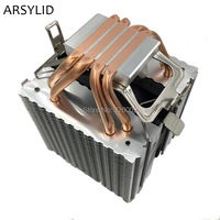 9cm Fan 4 Heatpipe Dual Tower Intel LGA775 1150 1155 AMD AM2 AM3 FM1 FM2 CPU