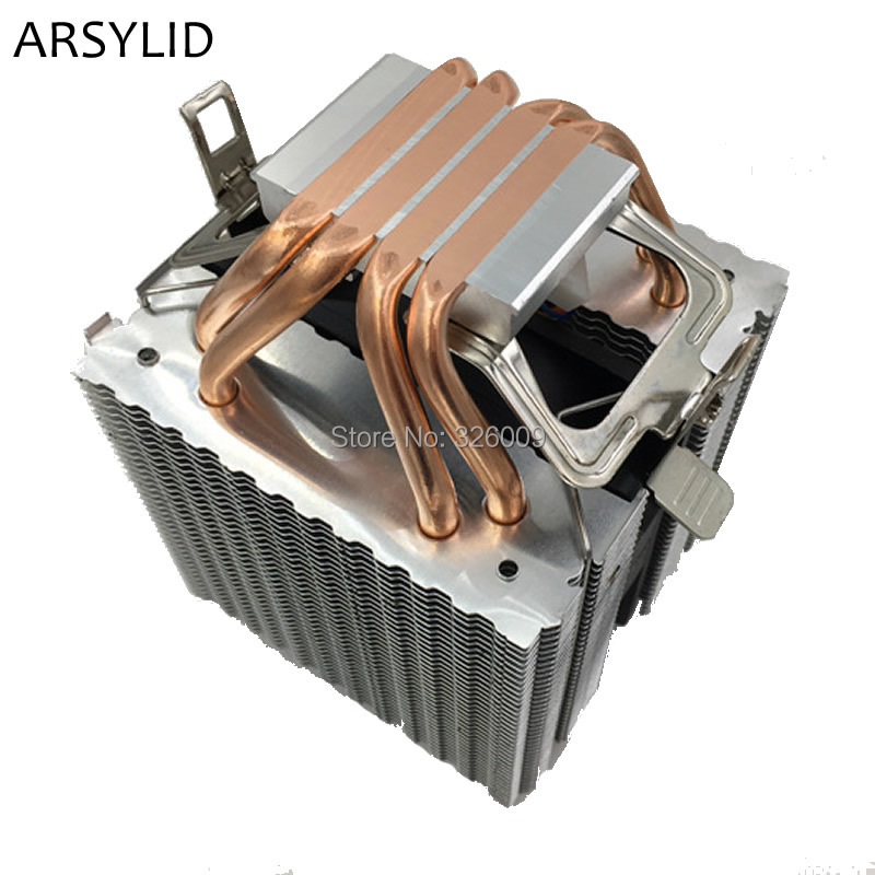 ARSYLID CN-409A CPU cooler 9cm fan 4 heatpipe cooling for Intel LGA775 1151 115x 1366 2011 Cooling for AMD AM3 AM4 radiator fan universal cpu cooling fan radiator dual fan cpu quiet cooler heatsink dual 80mm silent fan 2 heatpipe for intel lga amd