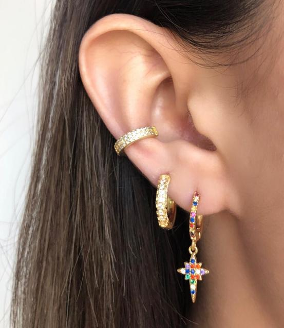 2019Rainbow Gothic Cross Snake Stud Earrings For Woman Gold Tiny Bar Colorful Cubic Zirconia Earring Huggie.jpg 640x640 - 2019Rainbow Gothic Cross Snake Stud Earrings For Woman Gold Tiny Bar Colorful Cubic Zirconia Earring Huggie Punk Jewelry ers-q37