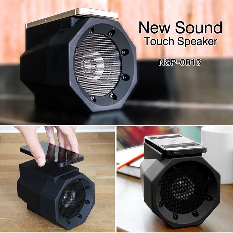 Mini Speaker Wireless Smart  Music Speaker Audio   Slot FM Stereo Sound Luminous Speaker for Phone Smart phone sensor Speaker