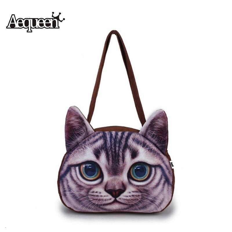 mulheres gato bonito impressão 3d Material Principal : Poliéster