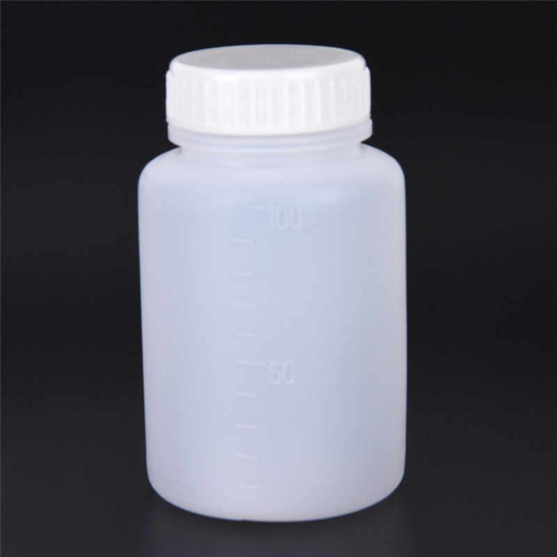 2 Chiếc Trụ Hình 100 Ml Nhựa Trong Hóa Học Lưu Trữ Thuốc Thử Bình