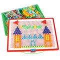 380 шт. творческая мозаика подарки игрушки детям DIY ногтей головоломки творческая мозаика гриб комплект головоломки игрушки