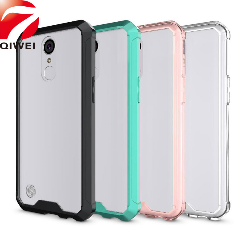 For LG K10 2017 Case Crystal Hybrid Bumper Clear Hard Acrylic Back Cover For LG LV5 LV 5 Phone Cases Fundas For LG K20 Plus Capa