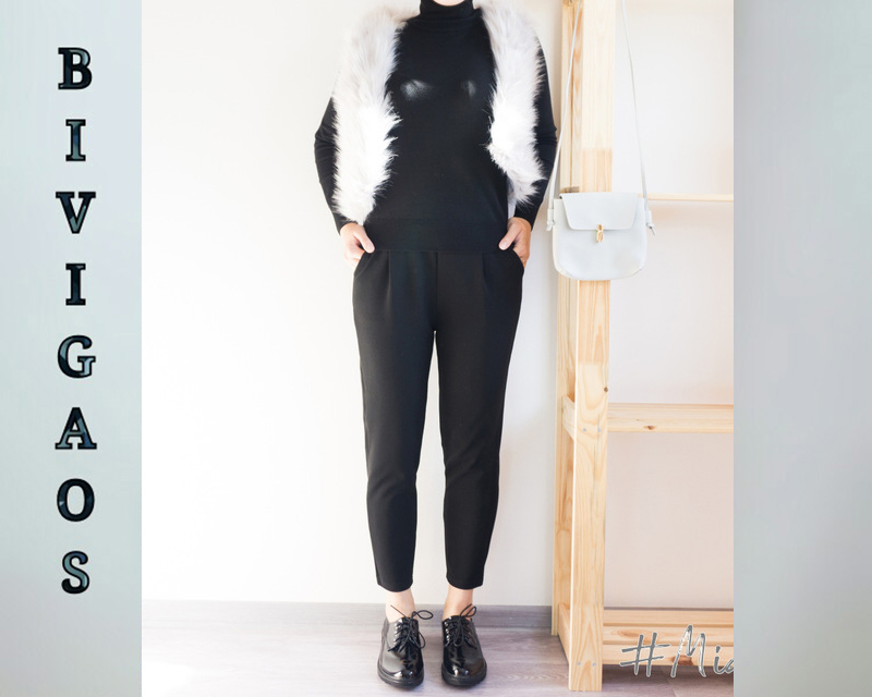 BIVIGAOS Spring Summer New Ladies Korean OL Black Harem Pants Breathable Thin Casual Pencil Pants Simple Suit Trousers For Women 16