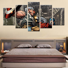 HD Print Movie Avengers Comic Wall Art 5 Panels for Living Room Childrens Decorating Murals