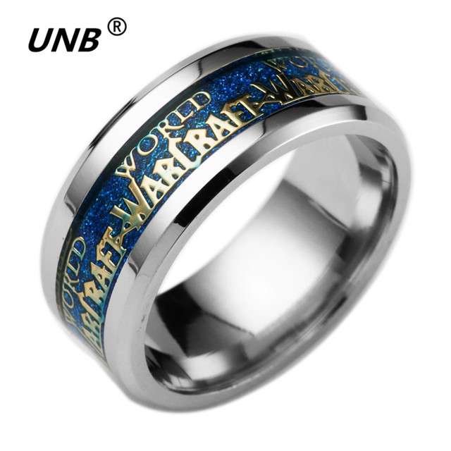 2017 New The One Newest Fashion World of Warcraft Ring Stainless Steel Jewelry Top Quality Hot Film Rings Lords Ring for Gifts