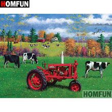 HOMFUN 5D DIY Diamond Painting Full Square/Round Drill  Tractor scenery Embroidery Cross Stitch gift Home Decor Gift A09112 homfun 5d diy diamond painting full square round drill tractor scenery embroidery cross stitch gift home decor gift a09181