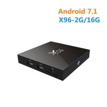 [Wechip] X96 Android 6.0 ТВ коробке 2 г 16 г Amlogic S905X 4 ядра Wi-Fi HDMI 2.0A 4 К * 2 К kdplayer Зефир HD медиаплеер