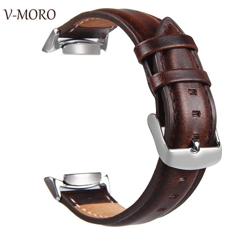 цена на V-MORO 2017 New For Samsung Gear S2 SM-R720/R730(NOT FIT SM-R732) Bands Genuine Leather Pattern For Samsung Gear S2 Sport Straps