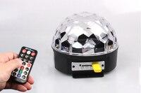 Rasha MP3 USB LED Crystal Magic Rotating Ball Light IR Remote Control 6 Colors RGB Disco