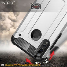 For Huawei P Smart Z Case Silicone Rubber Armor Shell Hard PC Back Phone Cover