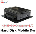 DHL/EMS Free Shipping Car DVR,4CH, H.264, Play Back,,D1 Hard Disk Mobile DVRS,IO,G-sensor, MDVR,Car black box,GS-8404