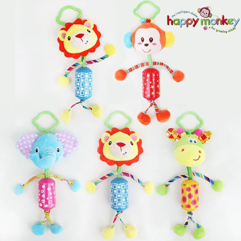 Lovely Baby babakocsi lógó játékok Plüss állat Campanula Baby Rattles Mobil zenei klasszikus játékok Ajándékok WJ295