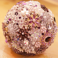 Púrpura de Plata broches ramo nupcial de La Boda, broche ramo de novia, Joyería de perlas de cristal bridesmaidbrooch bouquet decoración