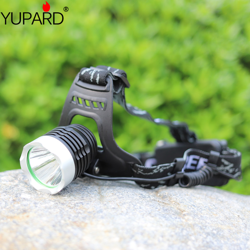YUPARD XML-L2 led Aluminum alloy Headlamp Head Torch Lamp light Flashlight 3 Mode black super T6 yellow light camp fishing sales hot sale 1800 lumen super bright xml t6 led bike light headlamp waterproof 3 mode led bicycle light flashlight