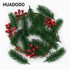 HUADODO Branches Pine-Needles Artificial-Flowers Diy-Accessories Christmas-Tree-Decorations