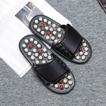 Acupuncture relaxation reflex stress foot massage men women pair foot slippers sandals