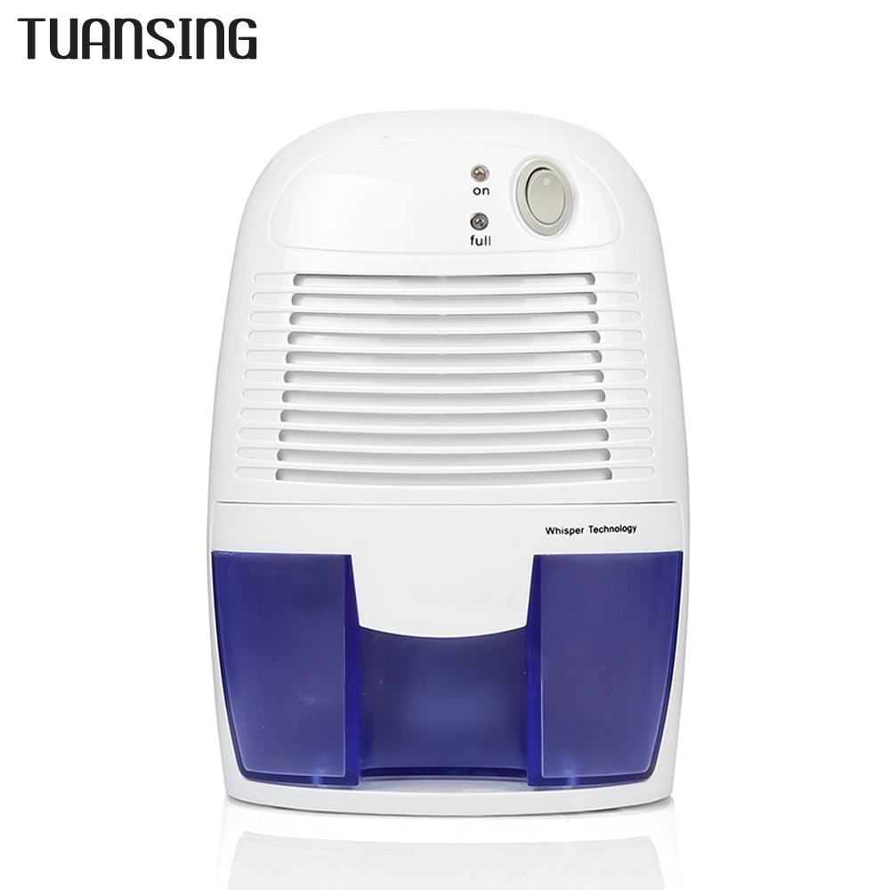 TUANSING Mini Dehumidifier 500ml Air Dehumidifier Portable Air Dryer with Auto-off for Home Office Air Dehumidifier