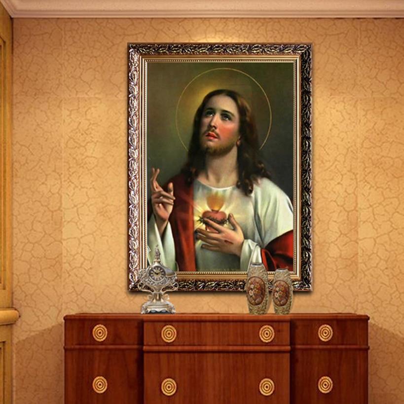 ᗛJésus Christ toile peinture Affiche et Impression de Jésus Sacré