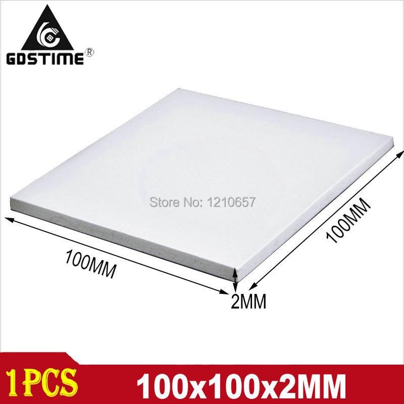 1 шт. 100x100x2 мм белая тепловая подушка, силиконовый теплоотвод, охлаждение, проводящий процессор GPU