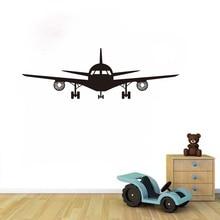 New arrival Airplane Art Wall Decal Cool Plane Vinyl Sticker Wallpaper For Kids Bedroom Aircraft Mural sticker