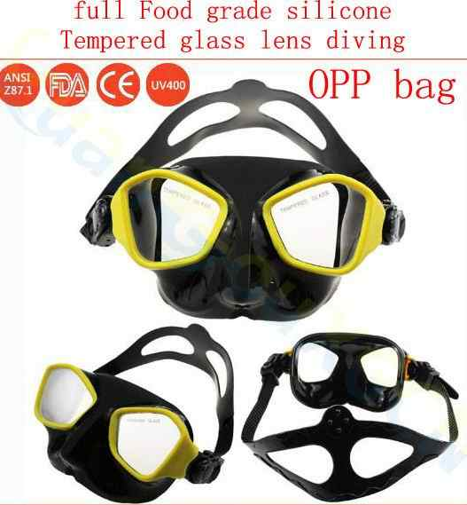 الكبار مكافحة الضباب الغوص نظارات التروس المعدات سيليكون الزجاج المقسى نظارات الغوص قناع تحت الماء spearfishing قناع