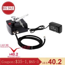 Dual Action Airbrush Spray Gun Air Kompressor Kit Kunst Malerei Tattoo Maniküre Handwerk Kuchen Spray Modell Air Pinsel Nagel Werkzeug set