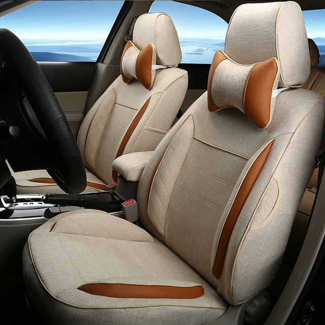 Protetor de Assento De Auto Ajuste para Toyota Alphard 2012 Assentos Tampa Do Carro Acessórios Interiores Esportes Almofadas de Linho Assento de Carro Pano Cobre