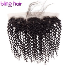 Bling Hair 13*4 Lace Frontal Closure Free Part Kinky Curly Human Hair