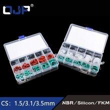 170pcs Rubber ring Mixed White Silicon Green FKM NBR O-Rings 15Sizes Silicone Viton Seal Gasket Ring Assortment Set Kit Box